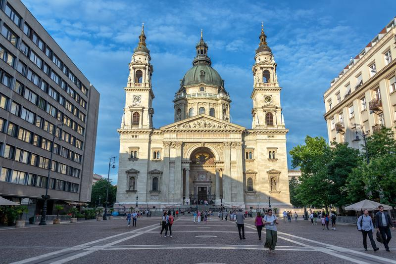 St Stephens Basilica View a Budapest, Ungheria immagini stock