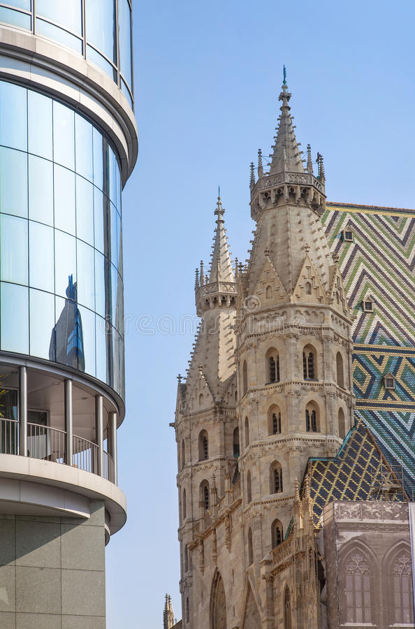 Download St Stephens Cathedral And Haas Haus Vienna Stock Photo - Image: 26476050