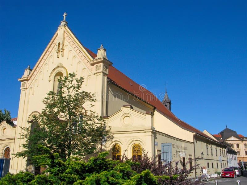 St Stephens Church, Bratislava, cidade velha, Eslováquia imagem de stock royalty free