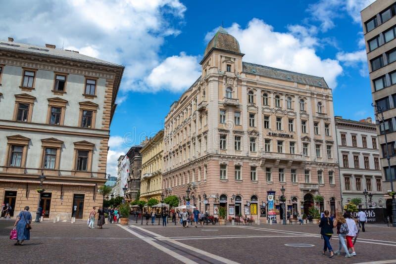 St Stephens Square a Budapest, Ungheria fotografie stock libere da diritti