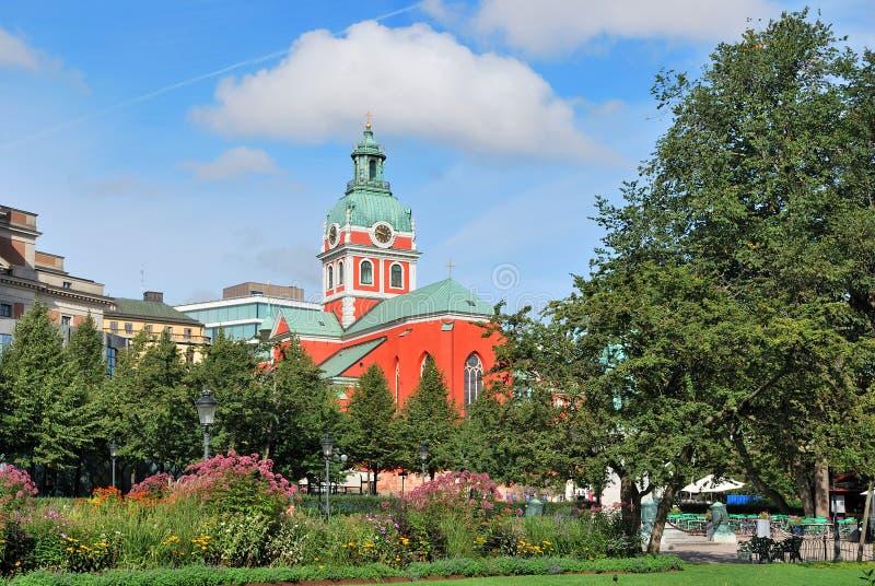 st stockholm jakob церков стоковое изображение
