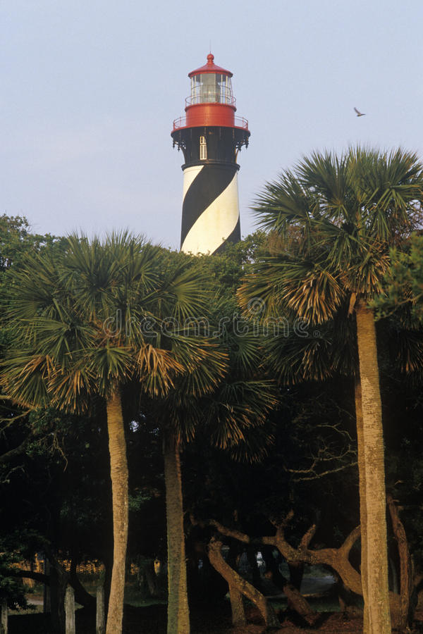 St storica Augustine Lighthouse a St Augustine, FL immagini stock