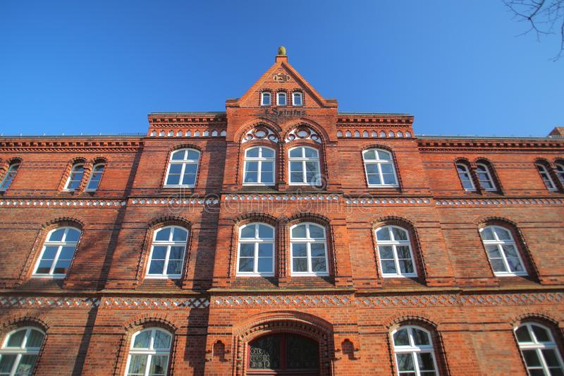 St storica Spiritus della casa di riposo, elencato come monumento in Greifswald, la Germania fotografia stock libera da diritti