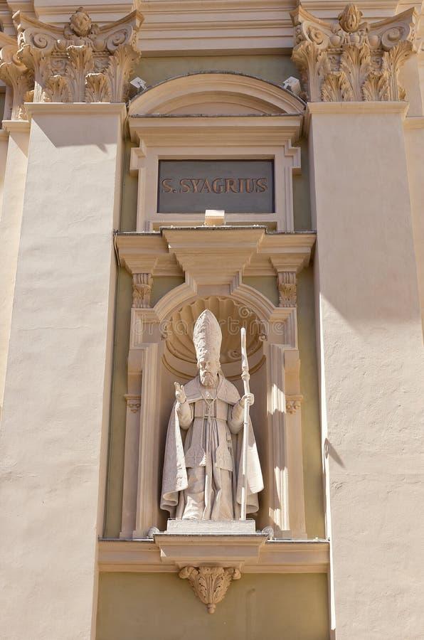 St Syagrius statua katedra St Reparata w Ładnym, F (1699) fotografia royalty free