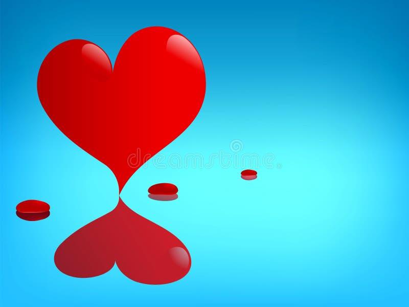St. Tarjeta de felicitación de la tarjeta del día de San Valentín stock de ilustración