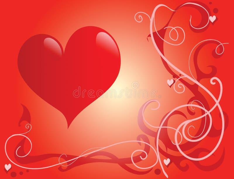 St Tema del `s del biglietto di S. Valentino royalty illustrazione gratis