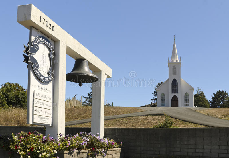 St Teresa Catholic Church i Bodega royaltyfri bild