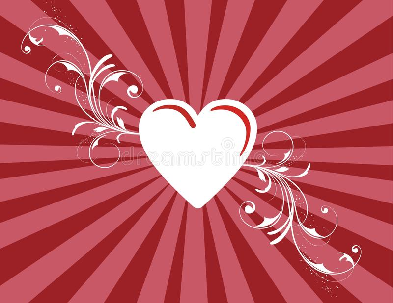 St. Textura do dia s do Valentim de '' ilustração stock