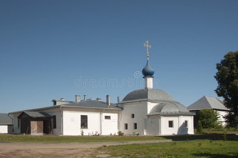 St Theodor klooster, de Kerk van het Kazan pictogram van Mot royalty-vrije stock foto