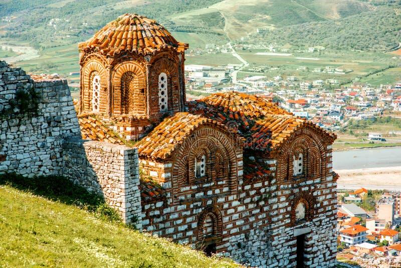 St Theodores kerk in Berat stock foto