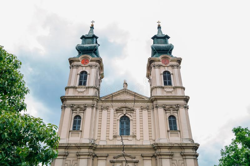 St. Theresa of Avila Cathedral in Subotica, Serbia. Historic architecture royalty free stock image