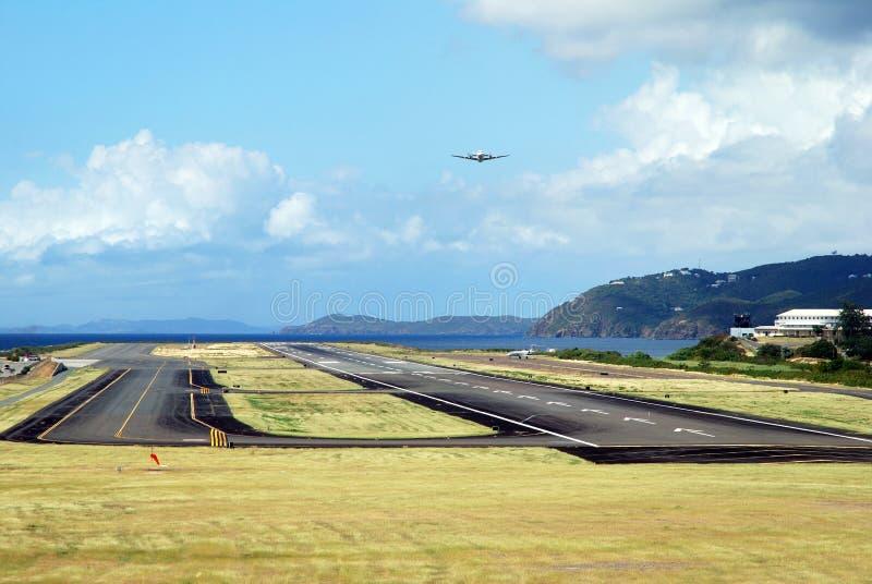 st thomas острова авиапорта стоковые фотографии rf