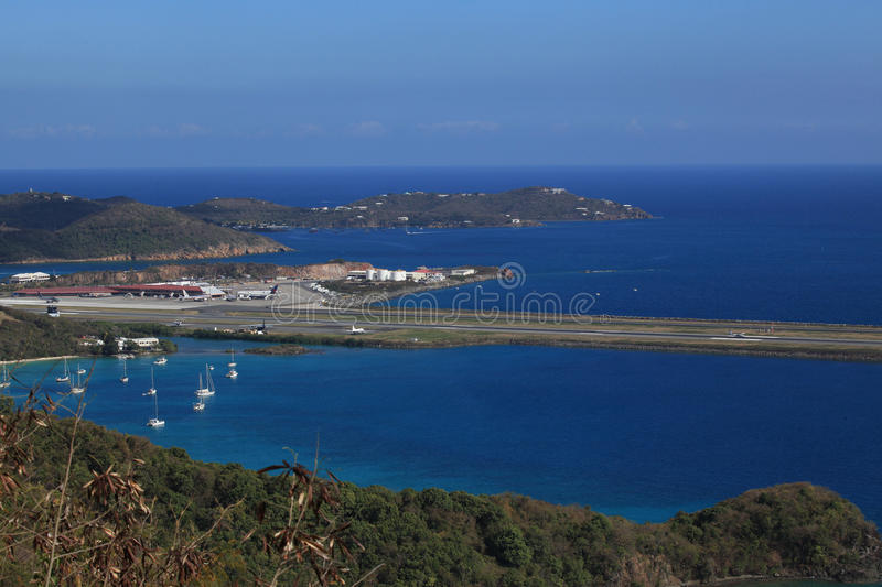 St Thomas Airport fotografie stock