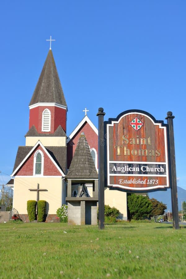 St Thomas Anglican Church en Chilliwack, A.C. imágenes de archivo libres de regalías