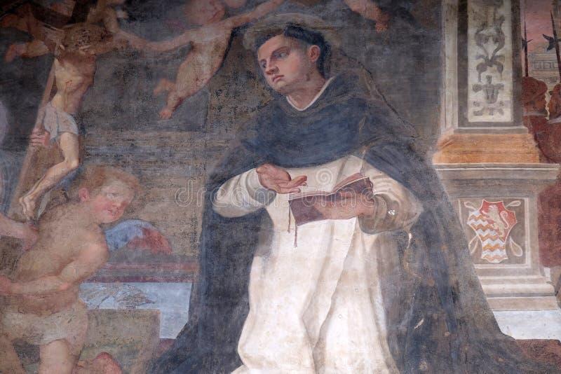 St. Thomas Aquinas, церковь повести Santa Maria внутри во Флоренс стоковая фотография rf