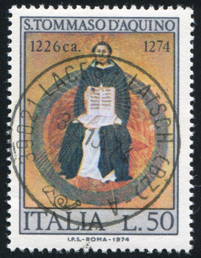 St. Thomas Aquinas Francesco Traini стоковое фото