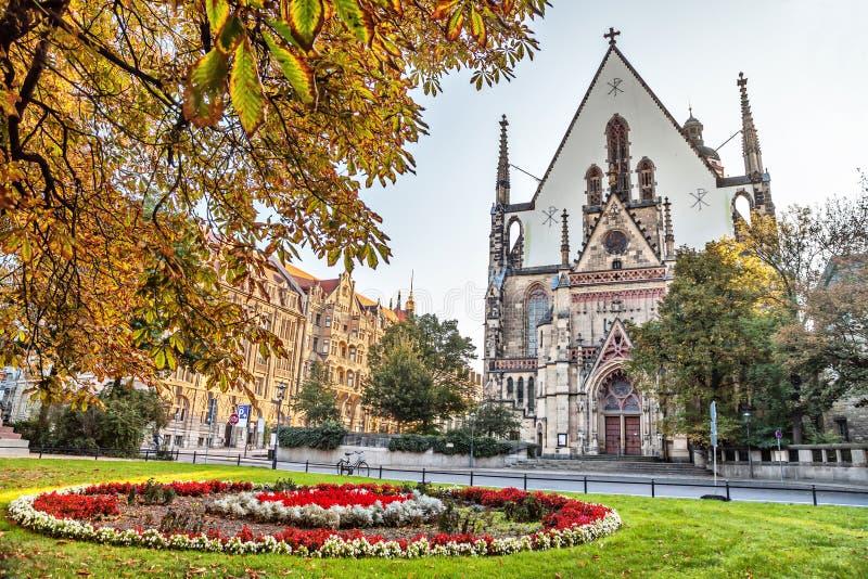 St Thomas Church i Leipzig royaltyfria bilder