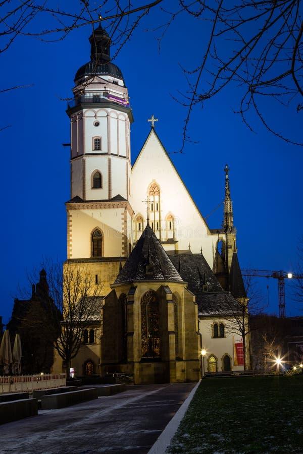 St Thomas Church, Lipsia fotografie stock