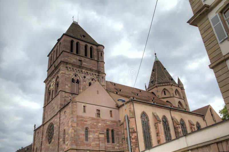 St Thomas Church Strasburgo, Francia fotografia stock libera da diritti