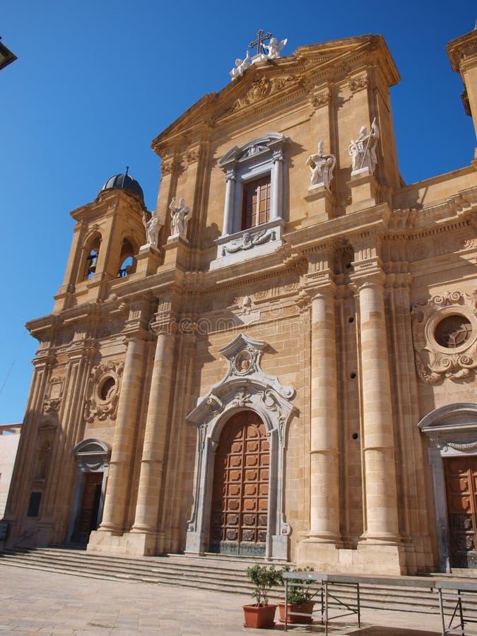 St Thomas de la catedral de Cantorbery, marsala, Sicilia, Italia foto de archivo libre de regalías