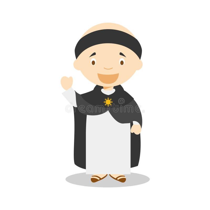 St Thomas Del Personaje De Dibujos Animados De Aquino Ilustración ...
