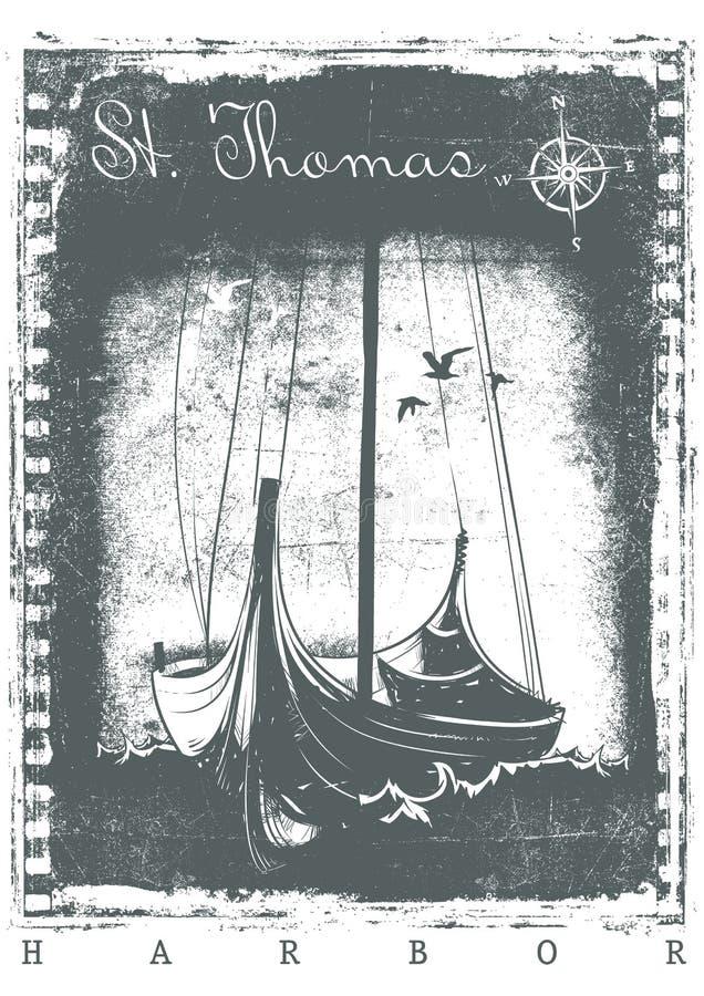 St Thomas Harbor stock illustratie