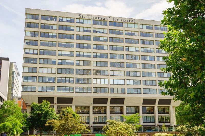 St Thomas Hospital i London arkivfoton