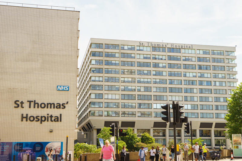 St Thomas Hospital in London royalty free stock images