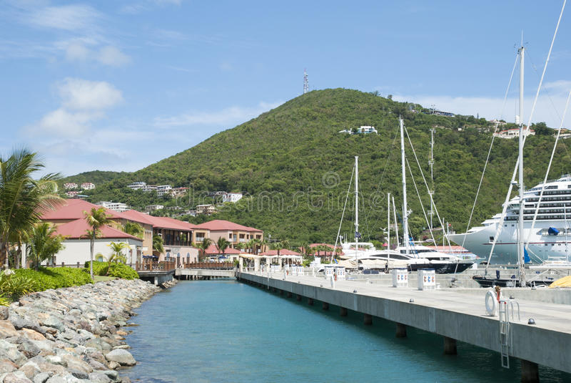 St Thomas Island Marina image libre de droits