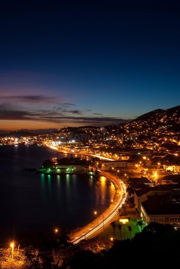 St Thomas - isola di Virgin degli Stati Uniti - tramonto fotografia stock