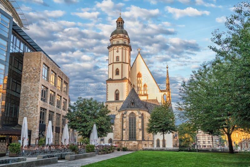 St Thomas kyrka i Leipzig royaltyfria bilder