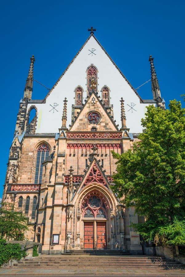 St Thomas kyrka i Leipzig, Tyskland royaltyfri fotografi
