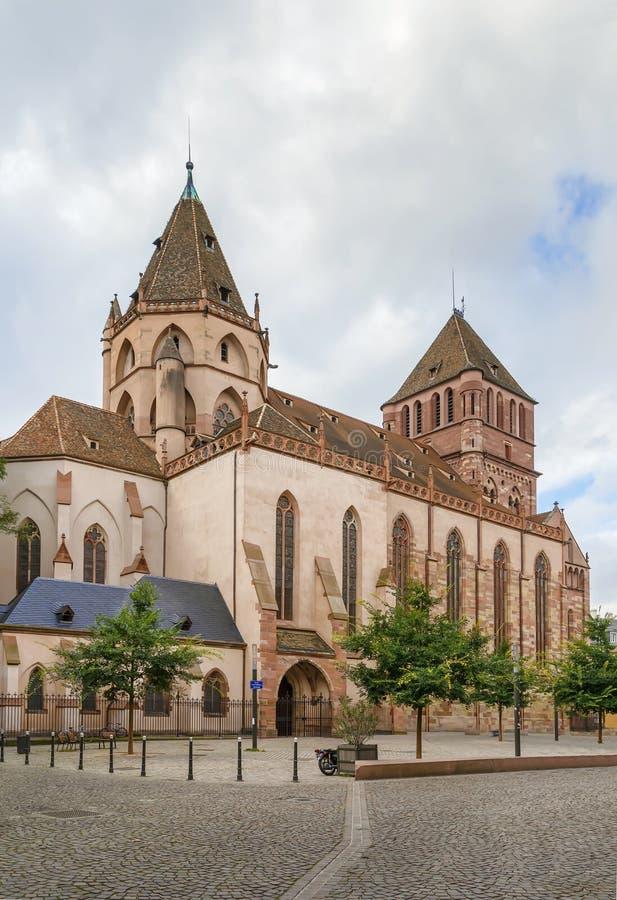 St Thomas kyrka, Strasbourg royaltyfri bild