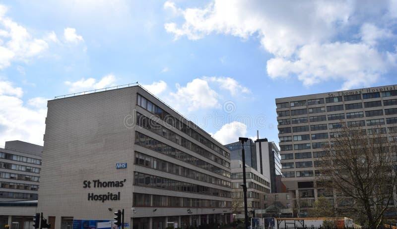 St Thomas sjukhus i London, UK arkivbild