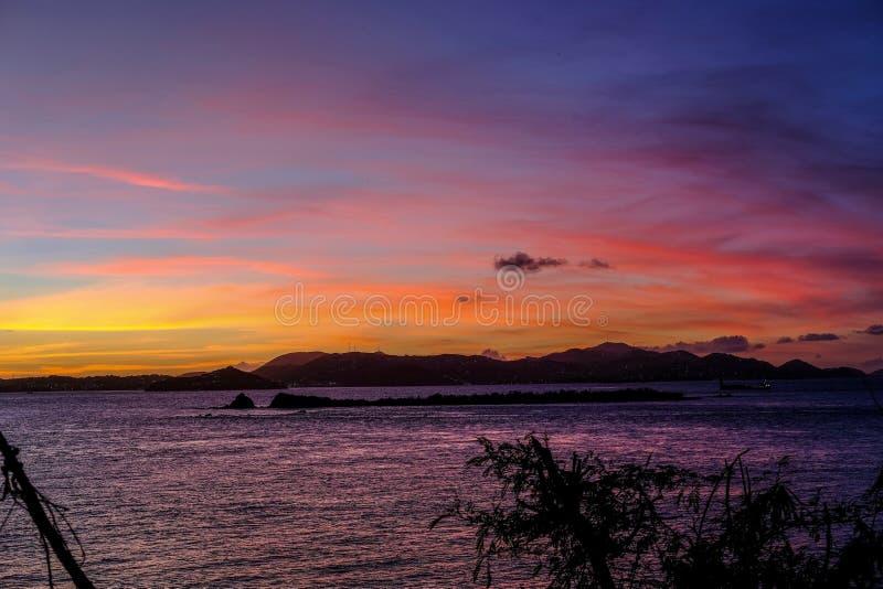 St Thomas solnedgång arkivfoton