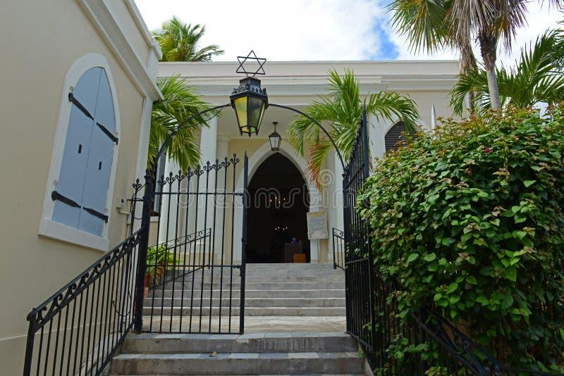 St Thomas Synagogue, Charlotte Amalie, USA Jungfruöarna royaltyfria bilder