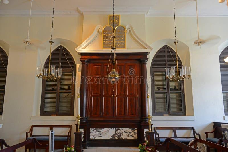 St Thomas Synagogue, Charlotte Amalie, USA Jungfru?arna royaltyfri bild
