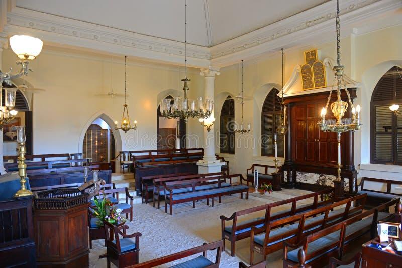 St Thomas Synagogue, Charlotte Amalie, USA Jungfru?arna arkivfoton