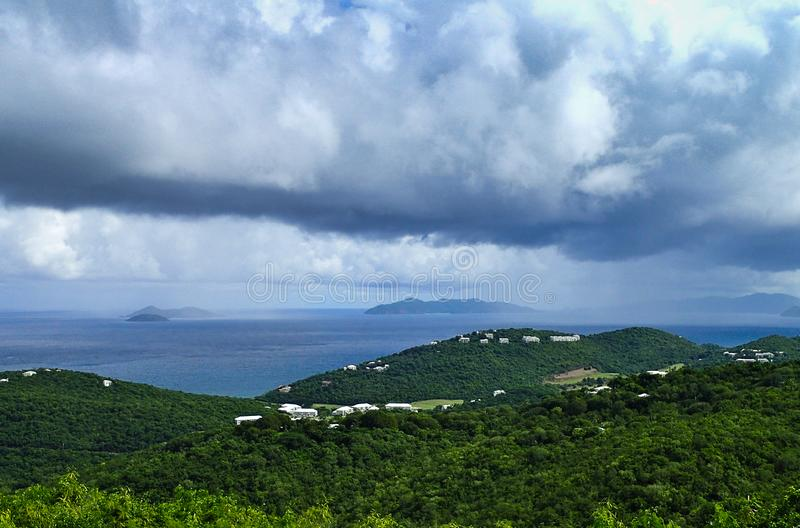 St. Thomas US Virgin Islands on a stormy day royalty free stock photography