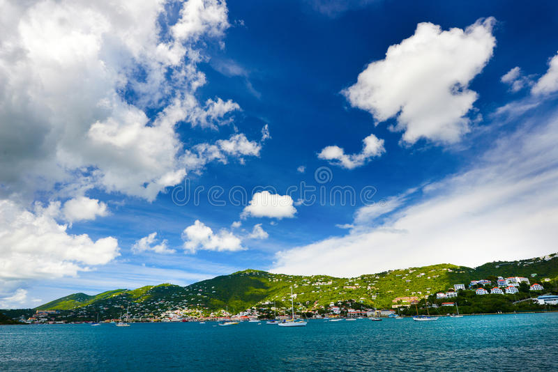 St Thomas Yacht Harbor fotografie stock