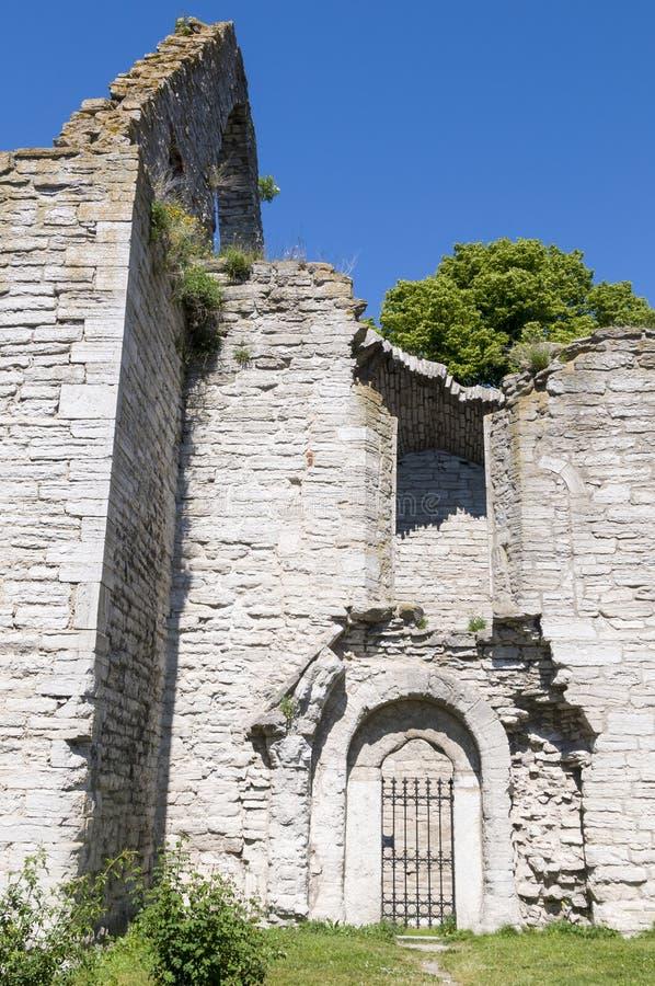 Kościelna ruina S: t Trinitatis Visby zdjęcia stock