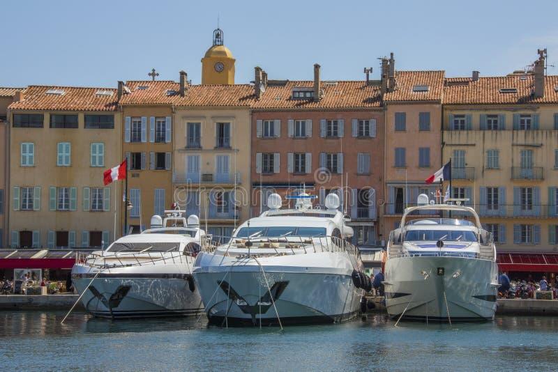ST Tropez - υπόστεγο d'Azur - γαλλικό Riviera στοκ εικόνες