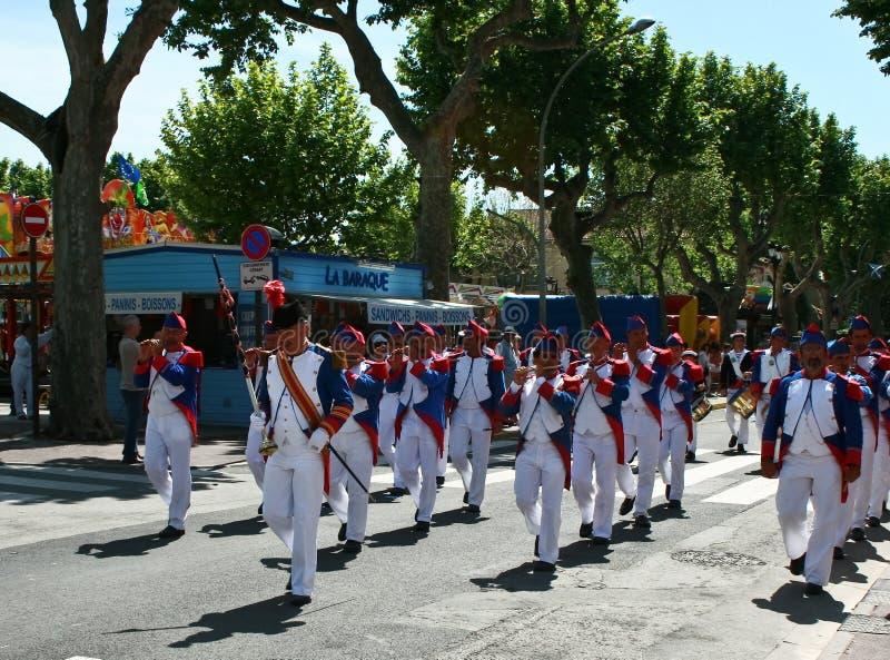 St Tropez Celebration Bravade royalty free stock image