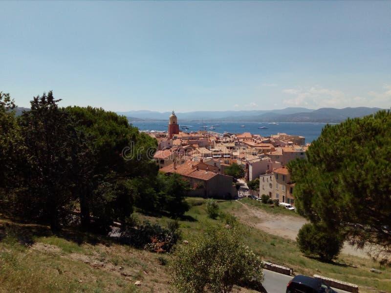 St Tropez i sommaren royaltyfria foton