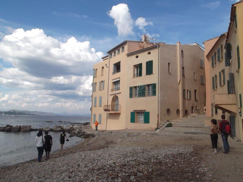 St Tropez por el agua fotos de archivo