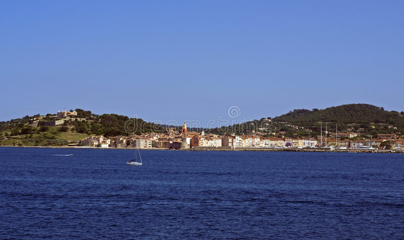 Download St tropez from sea stock image. Image of color, famous - 4703095