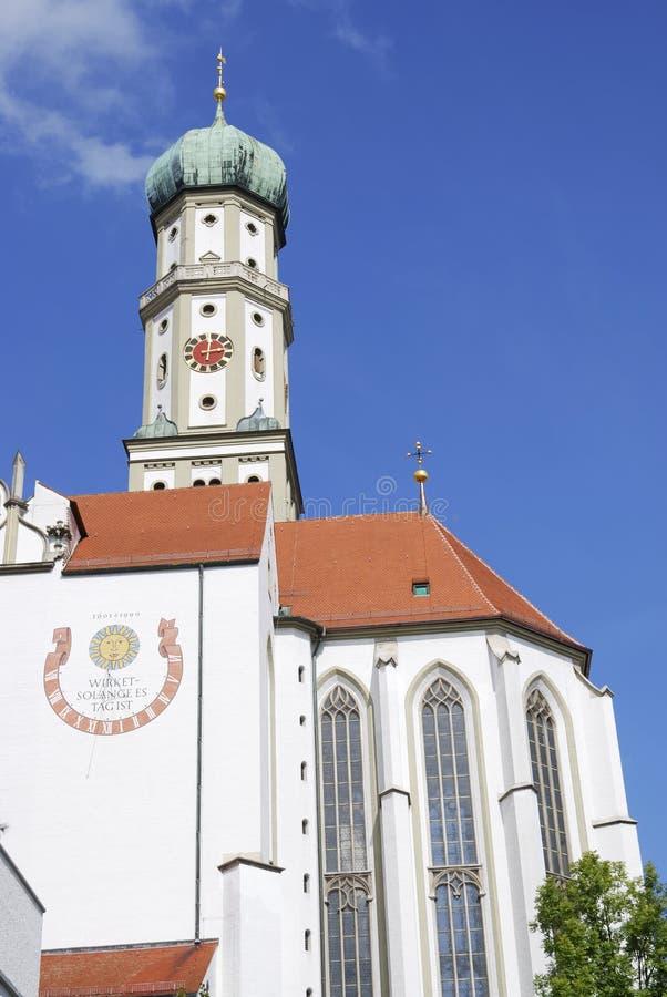 St Ulrich della basilica fotografia stock