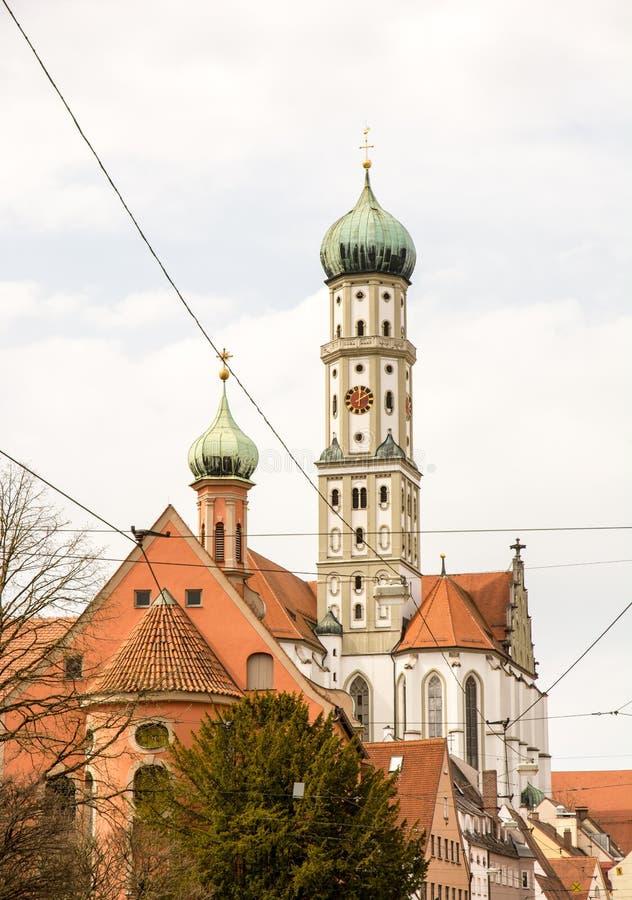 St Ulrich di Basilika a Augusta immagine stock libera da diritti
