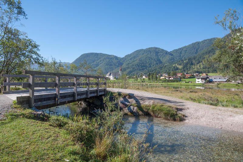 St. Ulrich Pillersee, el Tirol, Austria fotografía de archivo libre de regalías