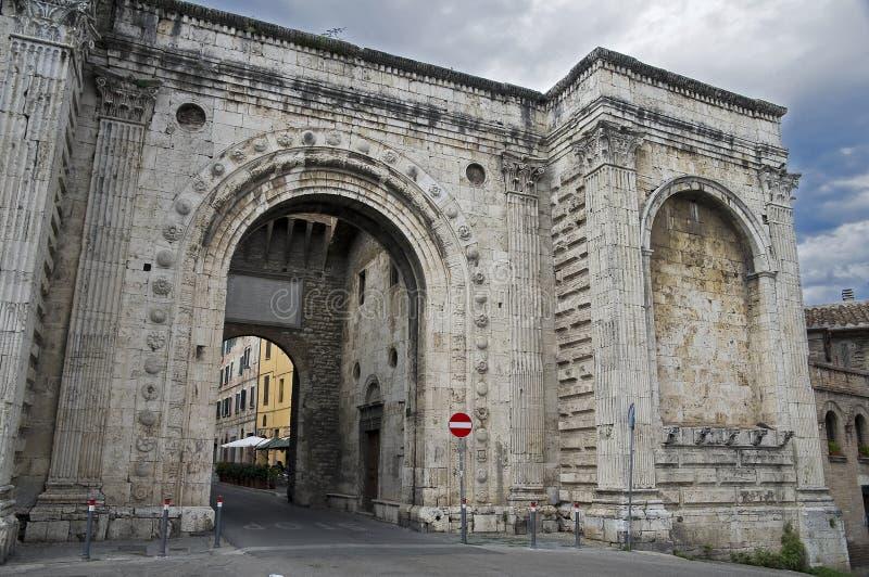 st umbria porta perugia pietro стоковое изображение rf